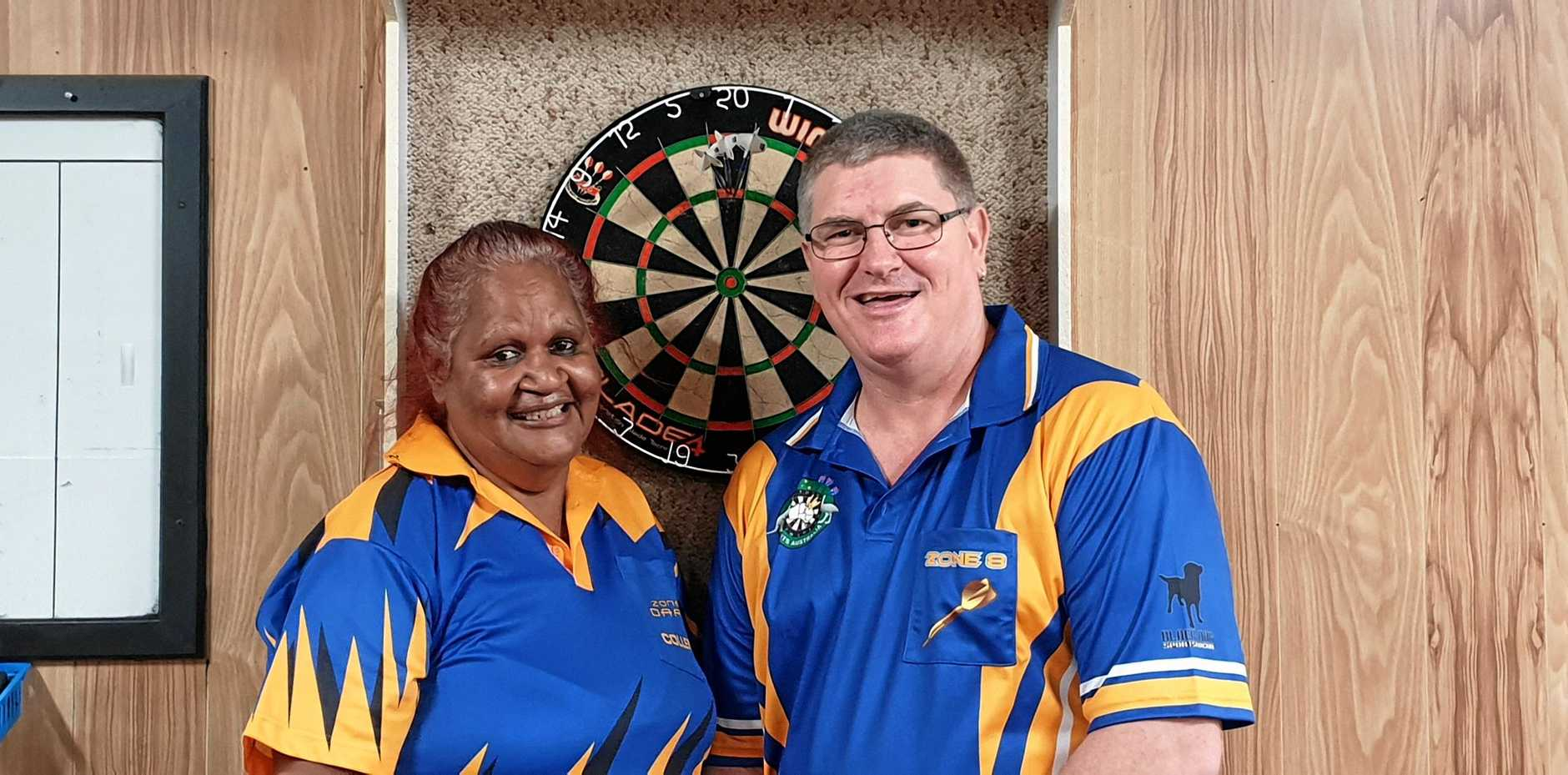 ON TARGET: Margaret Smallwood and Simon de Git will be heading off to Brisbane on the May long weekend after gaining selection in the CQ Zone 8 Darts team.