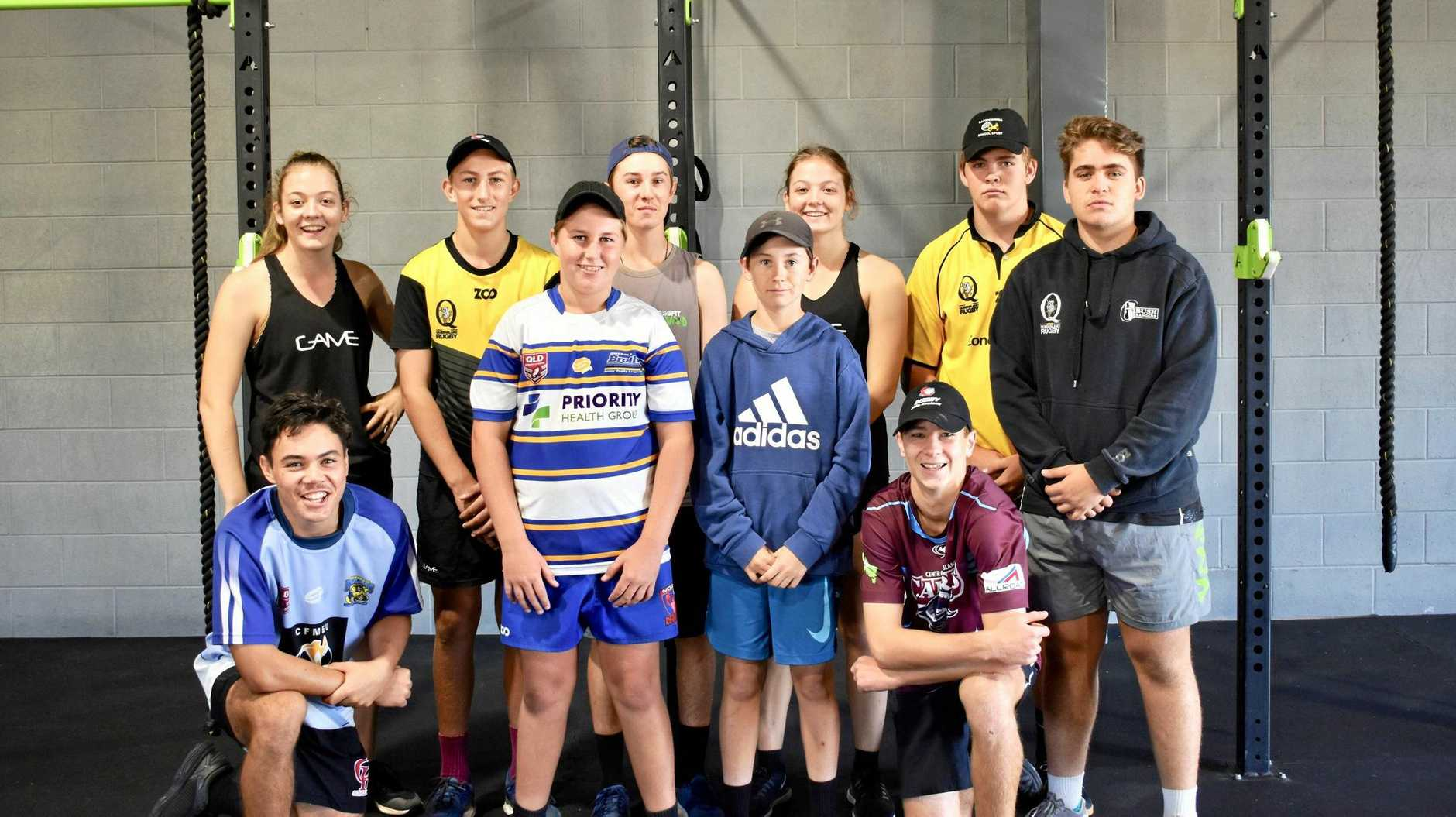 PERSONALISED TRAINING: The 10 young athletes who recently underwent their first block of a strength and conditioning program at Vivid.