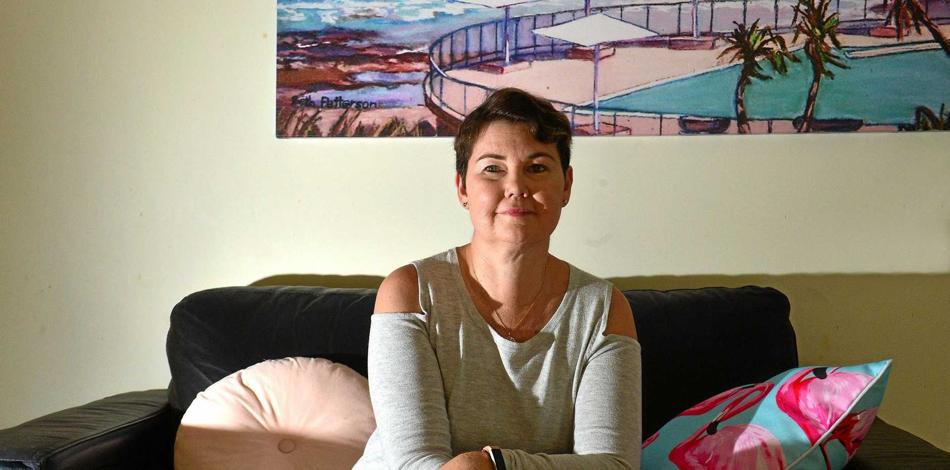 DETERMINED: Caloundra West mother Julie Hughes has battled a recurrence of a brain tumour.