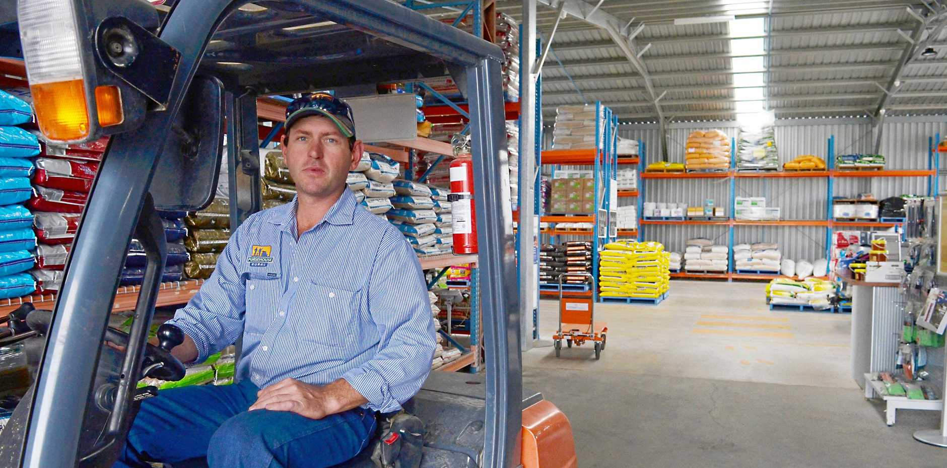 FARMERS STRUGGLING: Pursehouse Rural manager Ben Ree said tax breaks in the Federal Budget won't help his business much. The drought hit his customers hard and most farmers are not paying tax, so they cannot claim a concession.