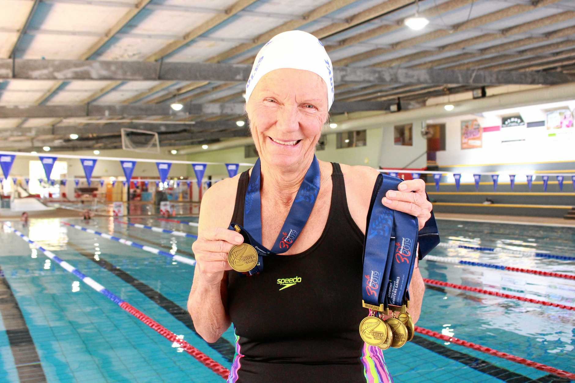 At 76 years of age, Hanna Wassenaar has her dad to thank for the passion he passed on after surviving World War 2 against all odds. She just returned from New Zealand after winning five gold medals in swimming at the Masters Games. She is getting back into training at WIRAC in Warwick.