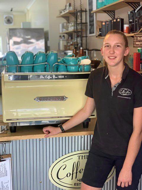 A BREW-TIFUL DAY: Taylah Berlin from Murgon's Coffee Bar 4605.