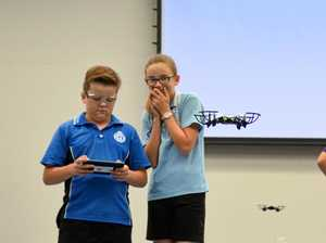 Drone program encourages Burnett students into STEM careers