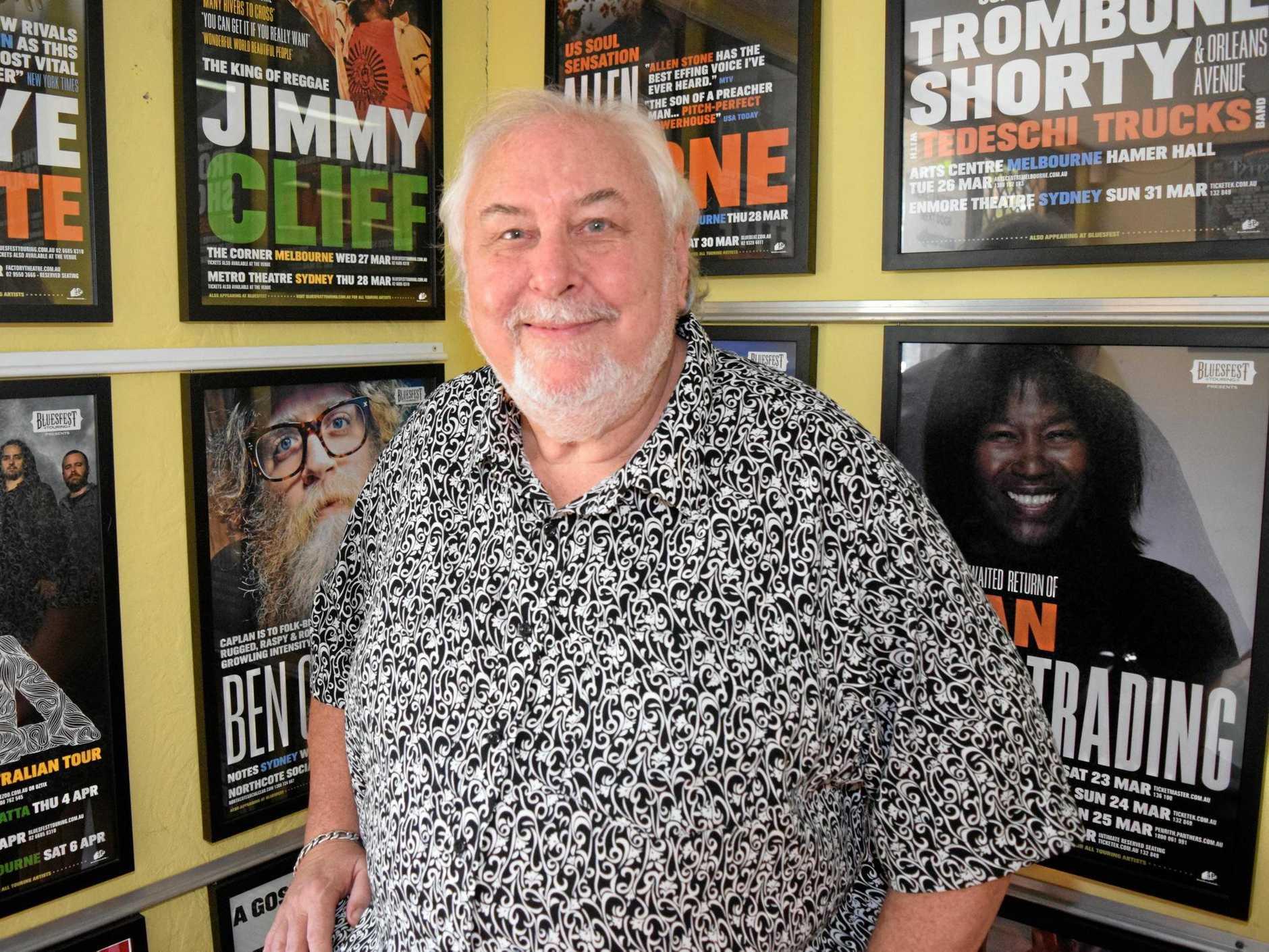 ORGANISER: Bluesfest Director Peter Noble.