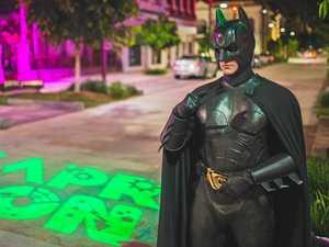 PHOTOS: Batman wins over crowd on Rocky riverbank