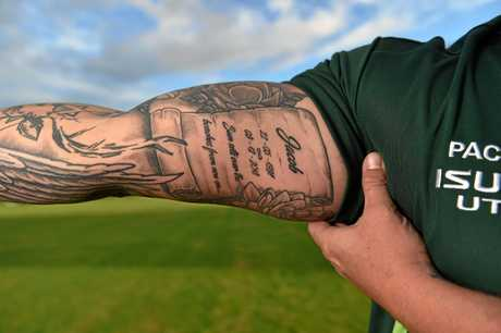The Coast rugby community was rocked when popular player Jacob Mabb was killed in Bali in a motorbike crash. Rugby player and mate Aaron Parry pays tribute with a tattoo.