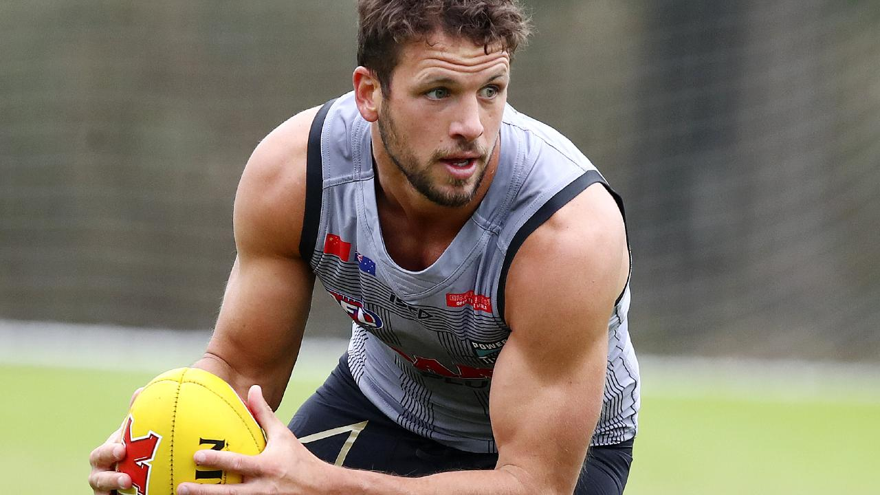 Travis Boak is reaping the rewards of a move back to the midfield. Picture: Sarah Reed