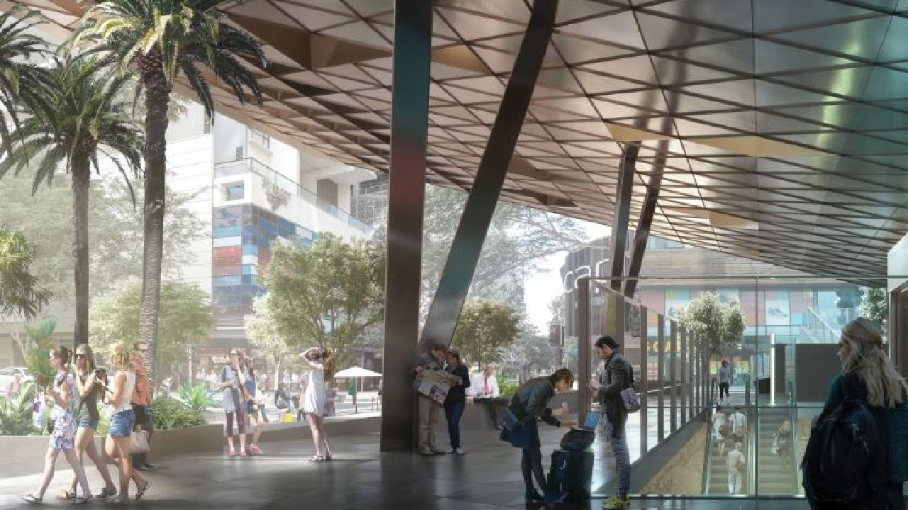 New vision of the Cross River Rail's Albert Street Station.