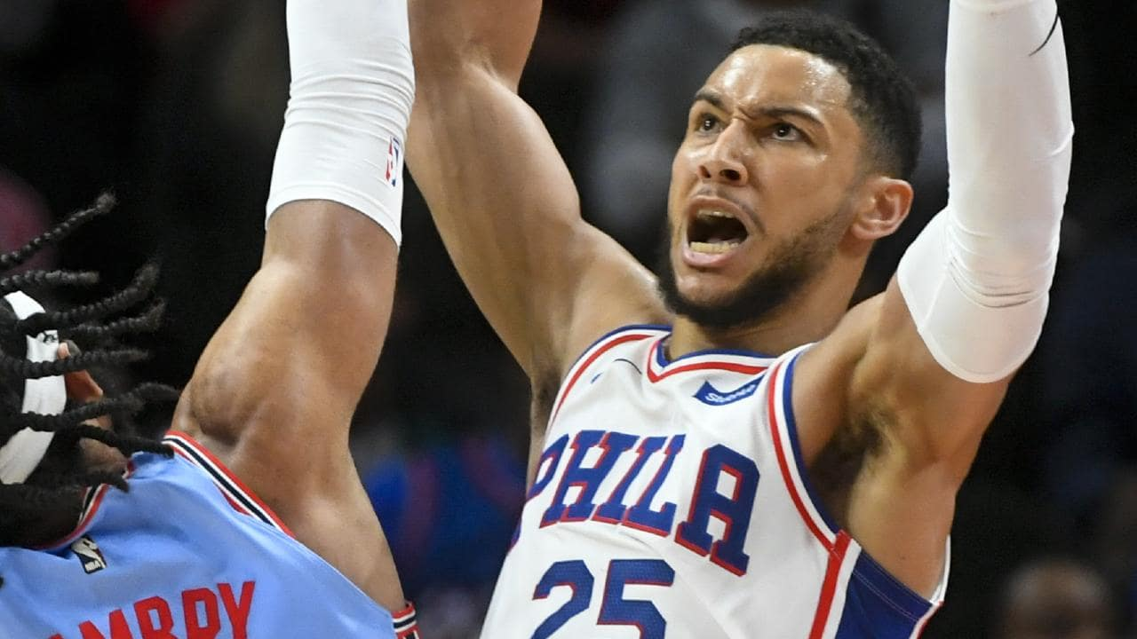 Ben Simmons and the Sixers struggled against the Atlanta Hawks. Picture: AP