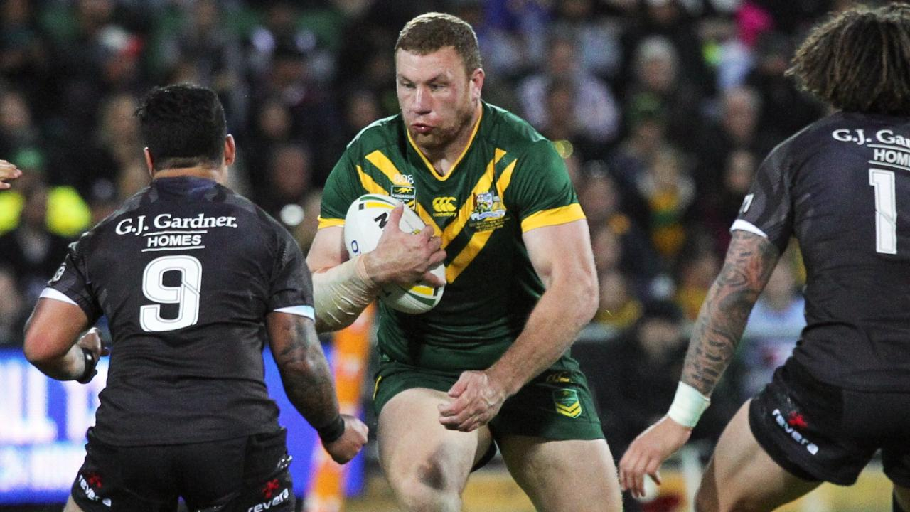 Boyd in action for the Kangaroos in 2016. Picture: AAP Image/Richard Wainwright