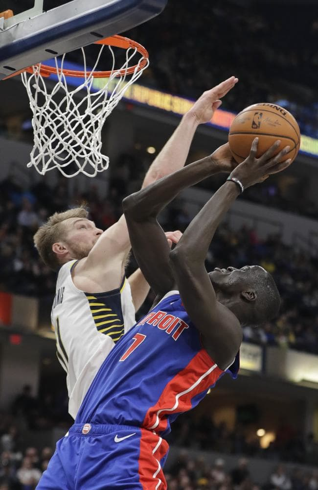 Aussie Thon Maker struggled with his shot against the Indiana Pacers. Picture: AP
