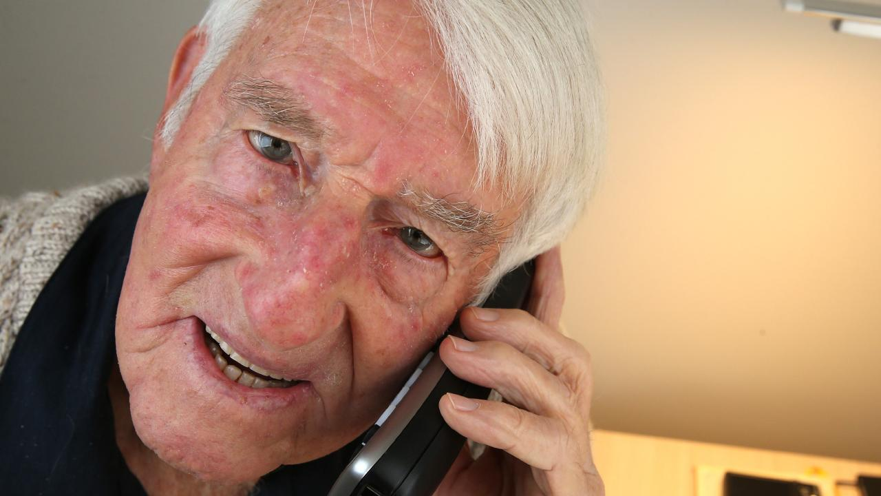 ATO scam warning. Jim Hobill, in his 80s, sensed he had received a scam phone call from someone claiming to be from the ATO so he called them directly to confirm and he was right. Picture: Mike Dugdale