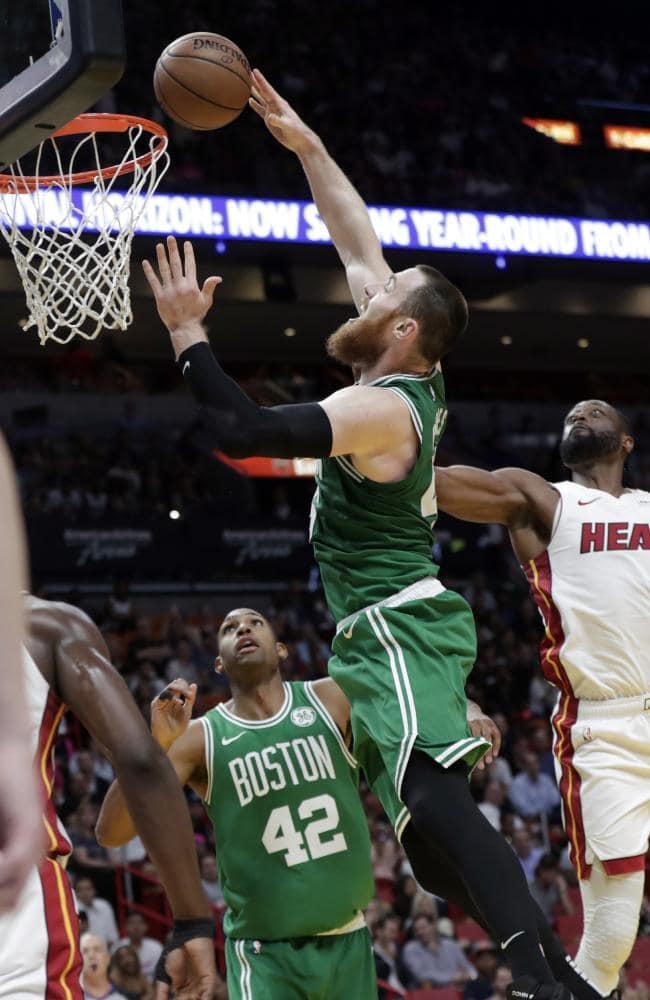 Aron Baynes had his way with the Miami Heat bigs. Picture: AP