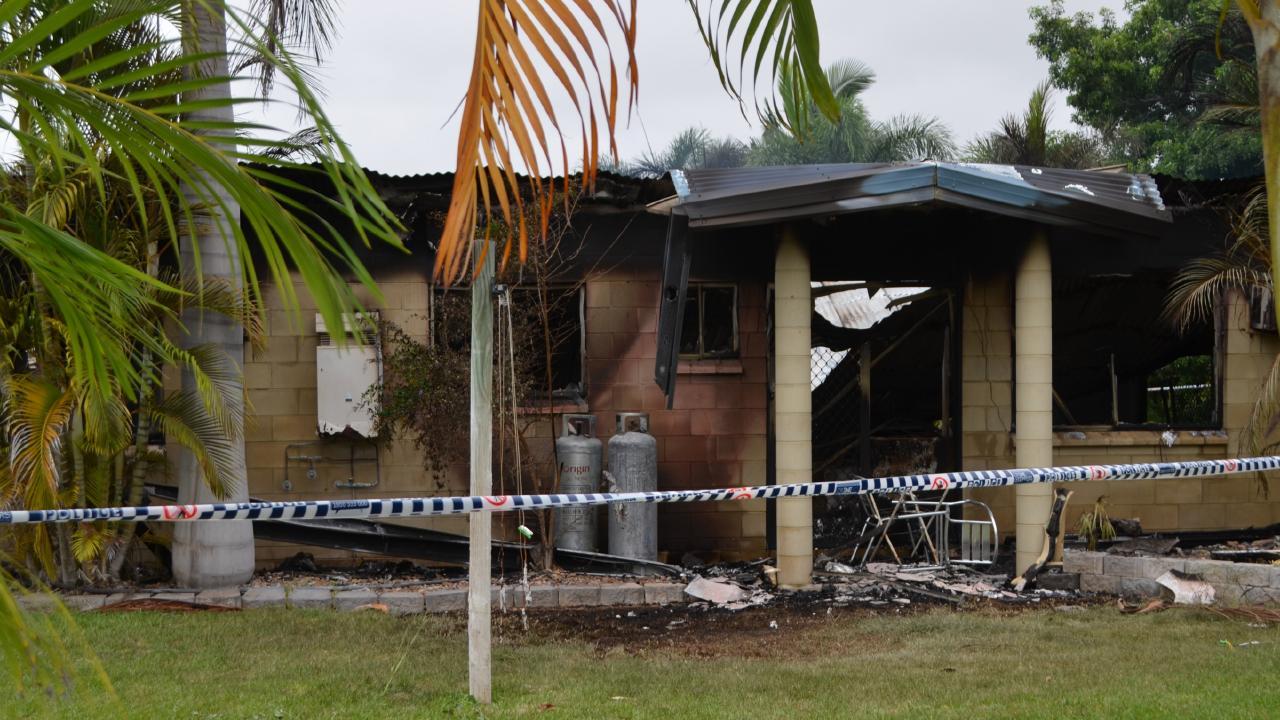 A house fire on Haldane Road. Picture: Marcel Baum.