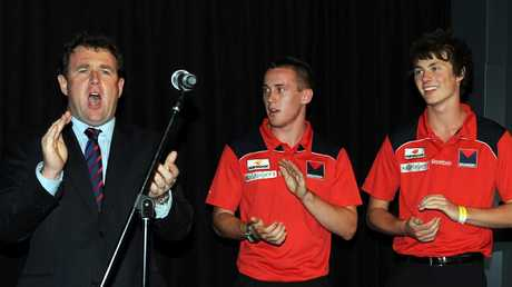 Chris Connolly celebrates at the 2009 draft, where the club snared top picks including Tom Scully after their woeful season.