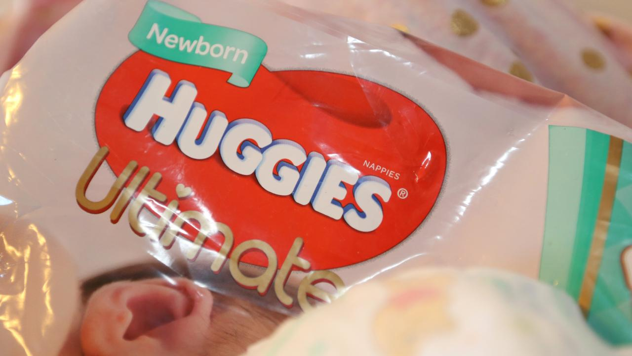 Kimberley-Clark has announced it's shutting down the Sydney plant which makes Huggies nappies with manufacturing to be moved offshore by late July. Pic: AAP