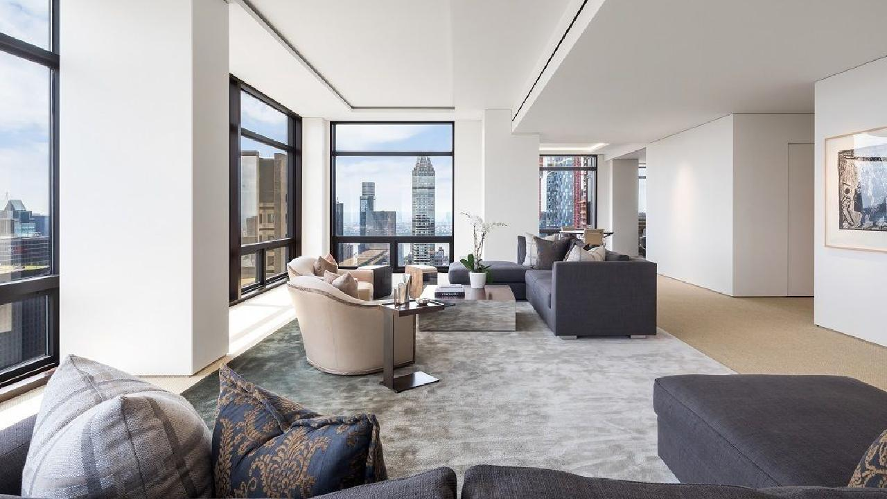 This penthouse in Trump Tower is situated directly under US President Donald Trump's private residence and has been on the market for 228 days.