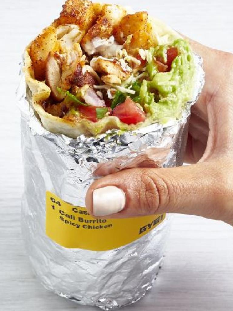 The Guzman y Gomez Cali burrito.