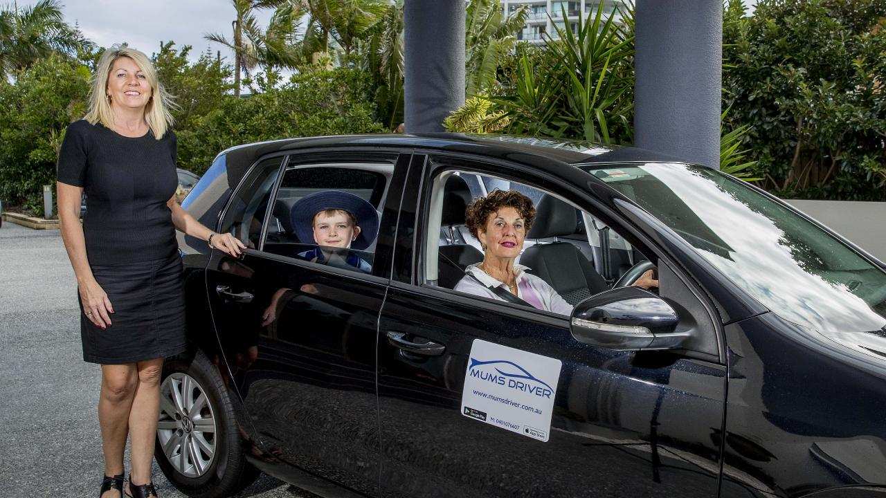 Local Kailene Squire has created an 'uber for kids' service called Mums Driver to help parents on the Gold Coast. Picture: Jerad Williams