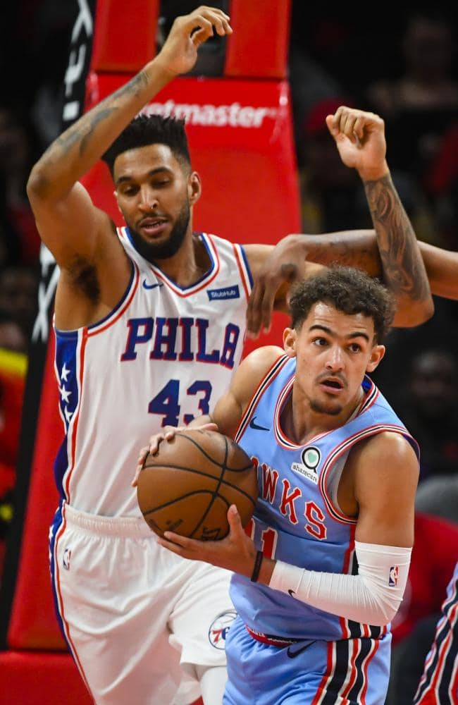 Jonah Bolden struggled defending pick and roll situations involving young Hawks star Trae Young. Picture: AP