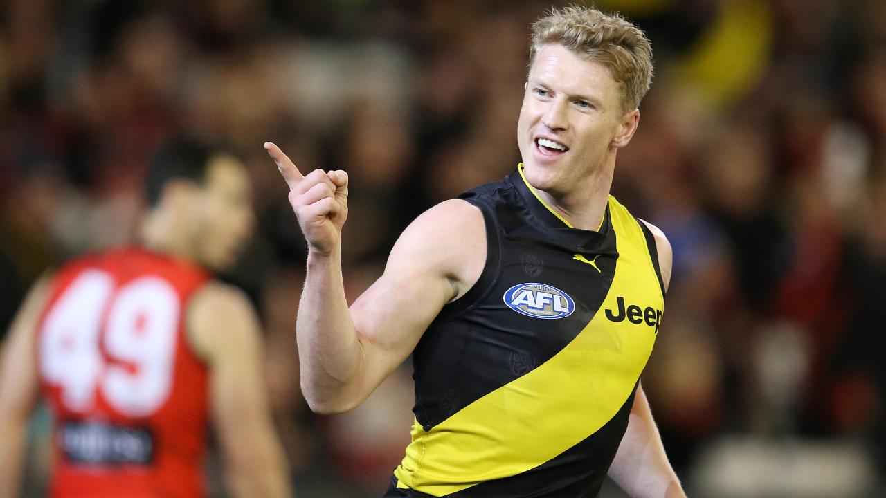The Tigers could use a few goal celebrations from Josh Caddy. Picture: Michael Klein