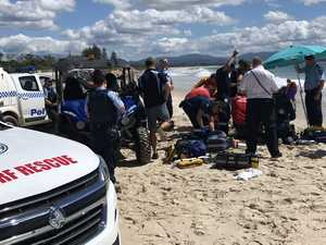 Woman airlifted from beach with head injuries