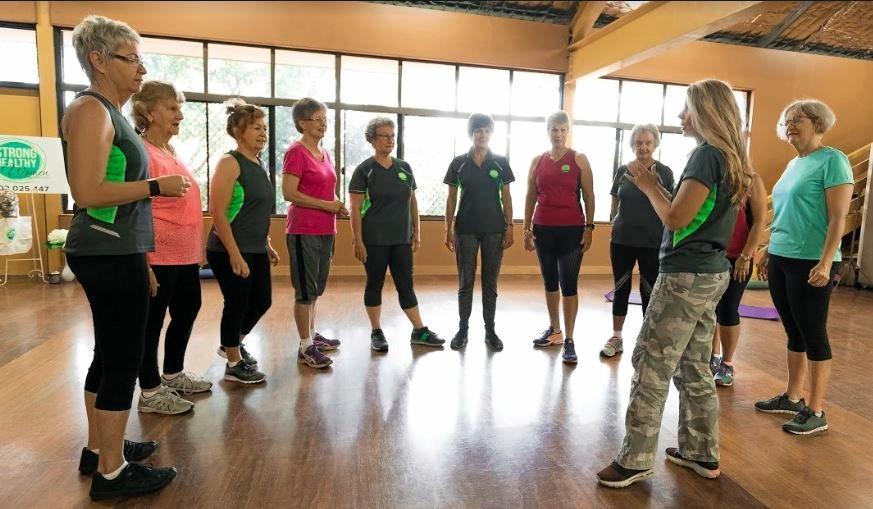 Peta Green teaching her strong healthy women program