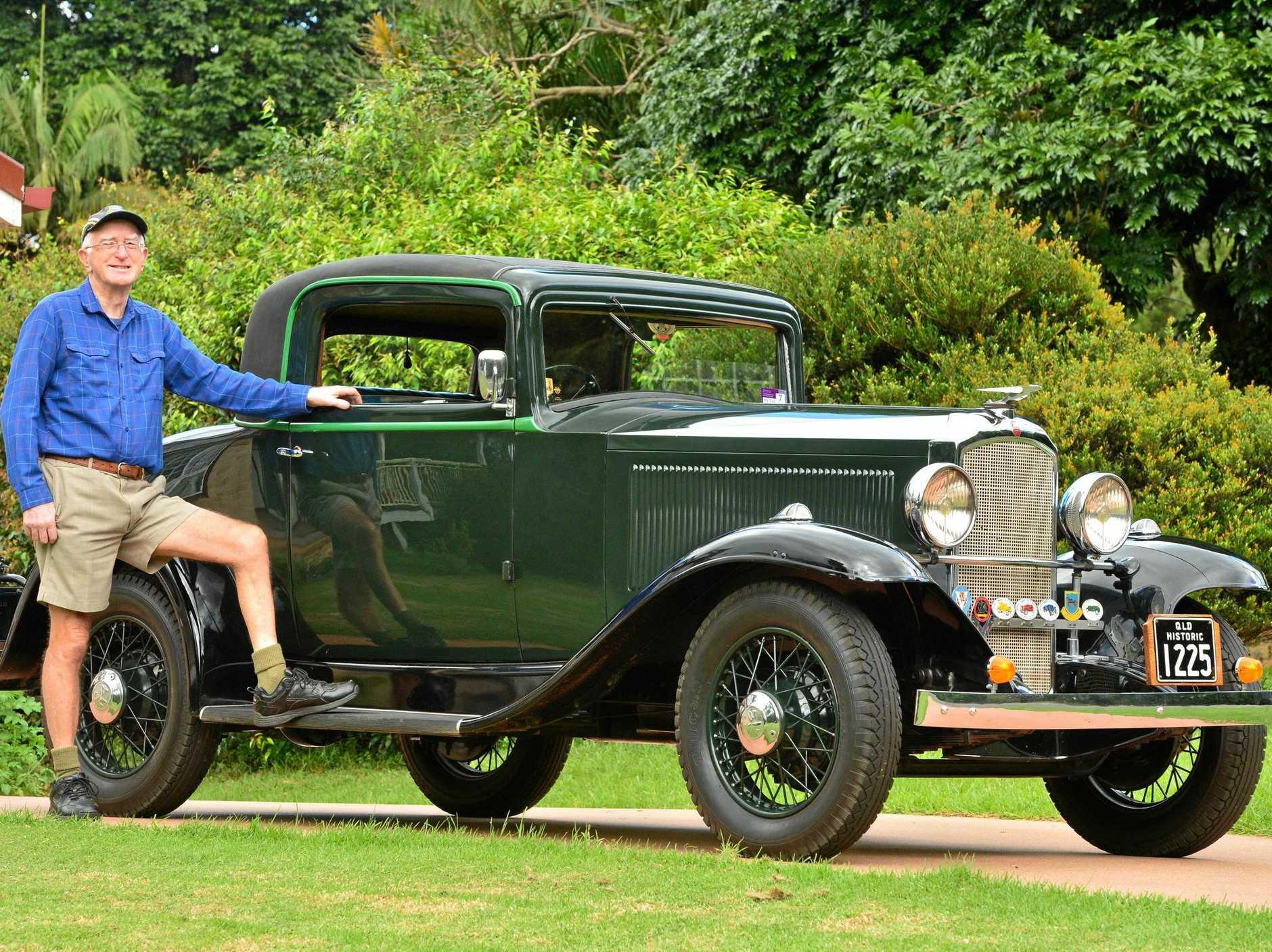 VAUXHALL MAN: Gordon McKinnon with his 1932 Vauxhall VX Coupe.