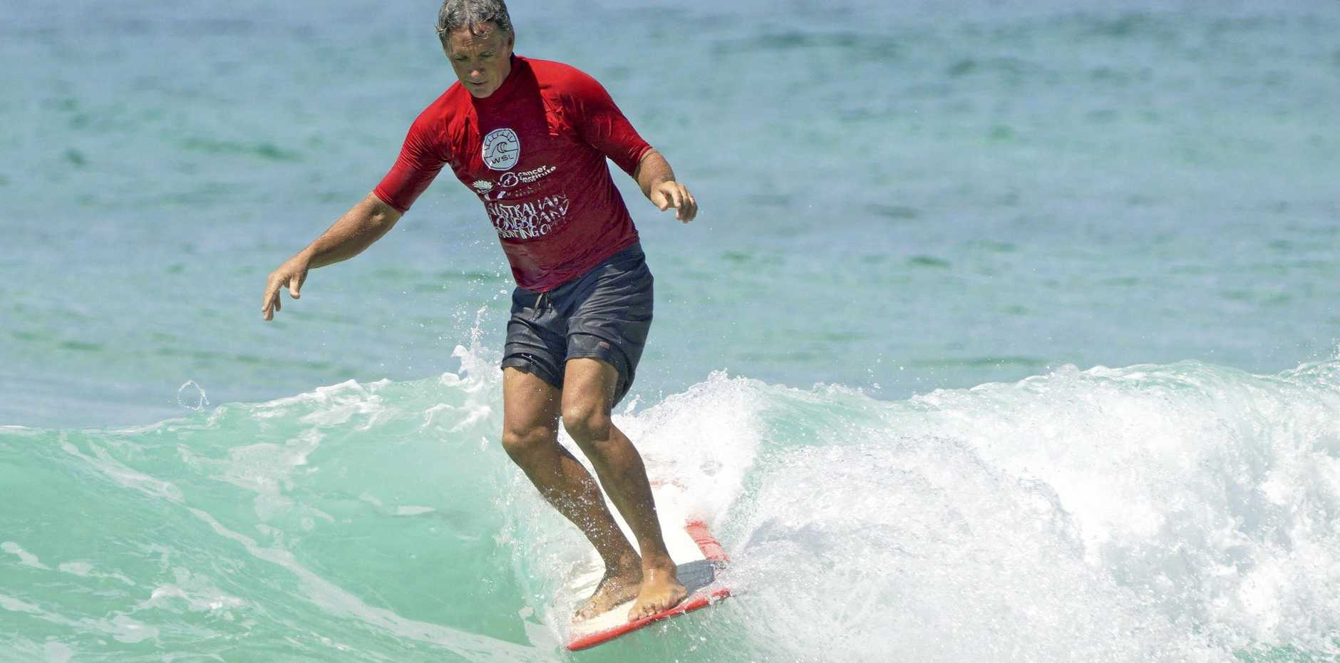 Ray Gleave at the Australian Longboard Surf Open.
