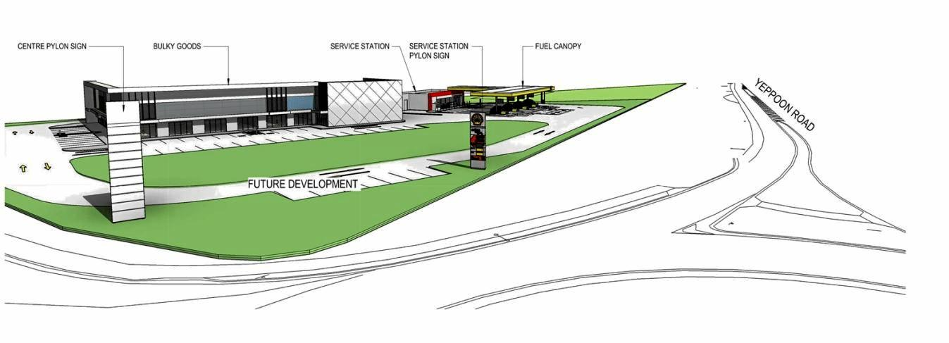 A 24-hour service station and retail warehouse has been approved for the corner of Tabone St and Yeppoon Rd at Lot 50 Fred Lawn Drive, Yeppoon.