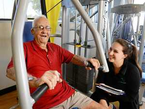 World War II veteran's gym time needs a lift
