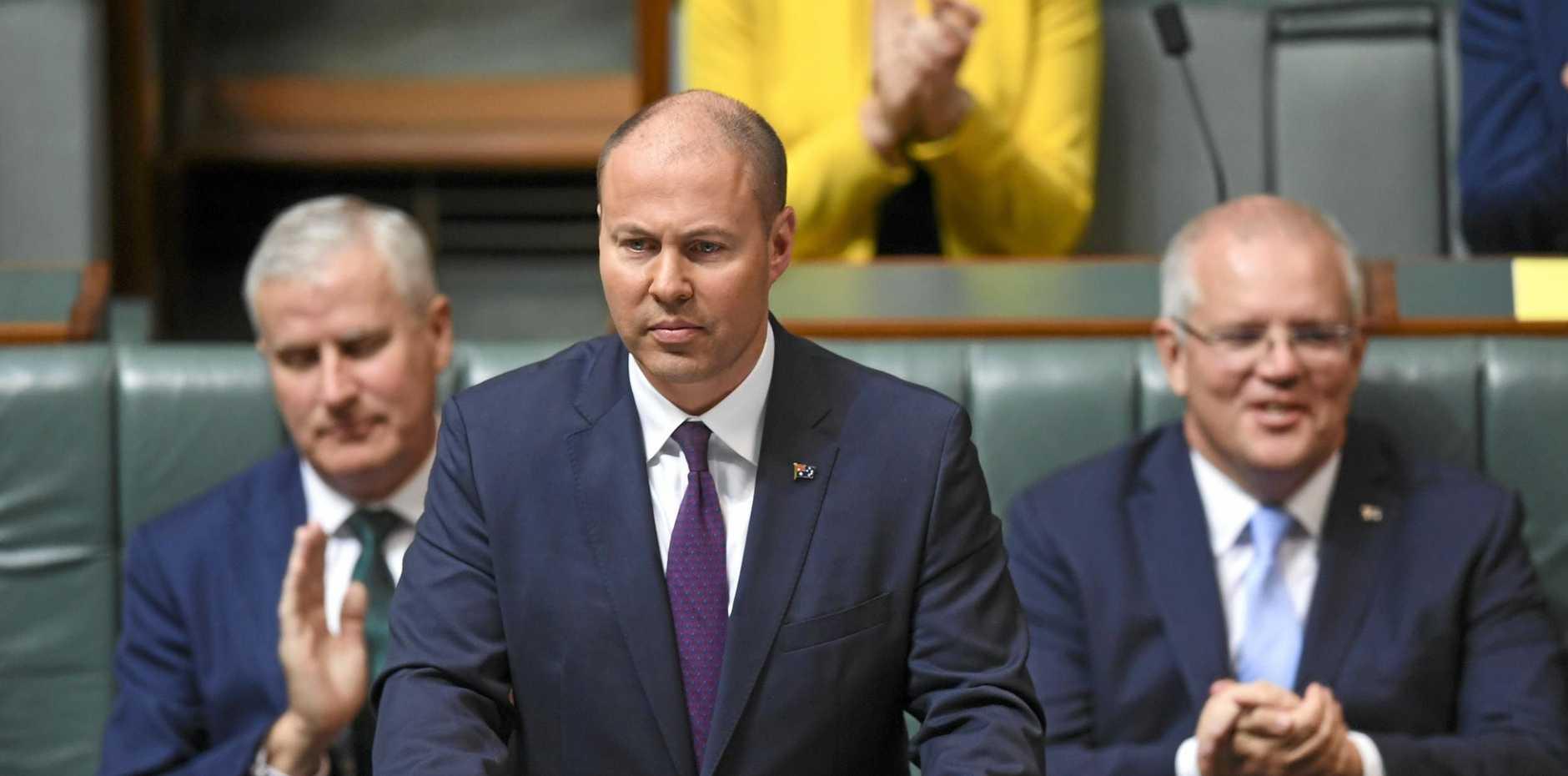 HIS FIRST: Australian Federal Treasurer Josh Frydenberg delivers the 2019-20 Federal Budget.