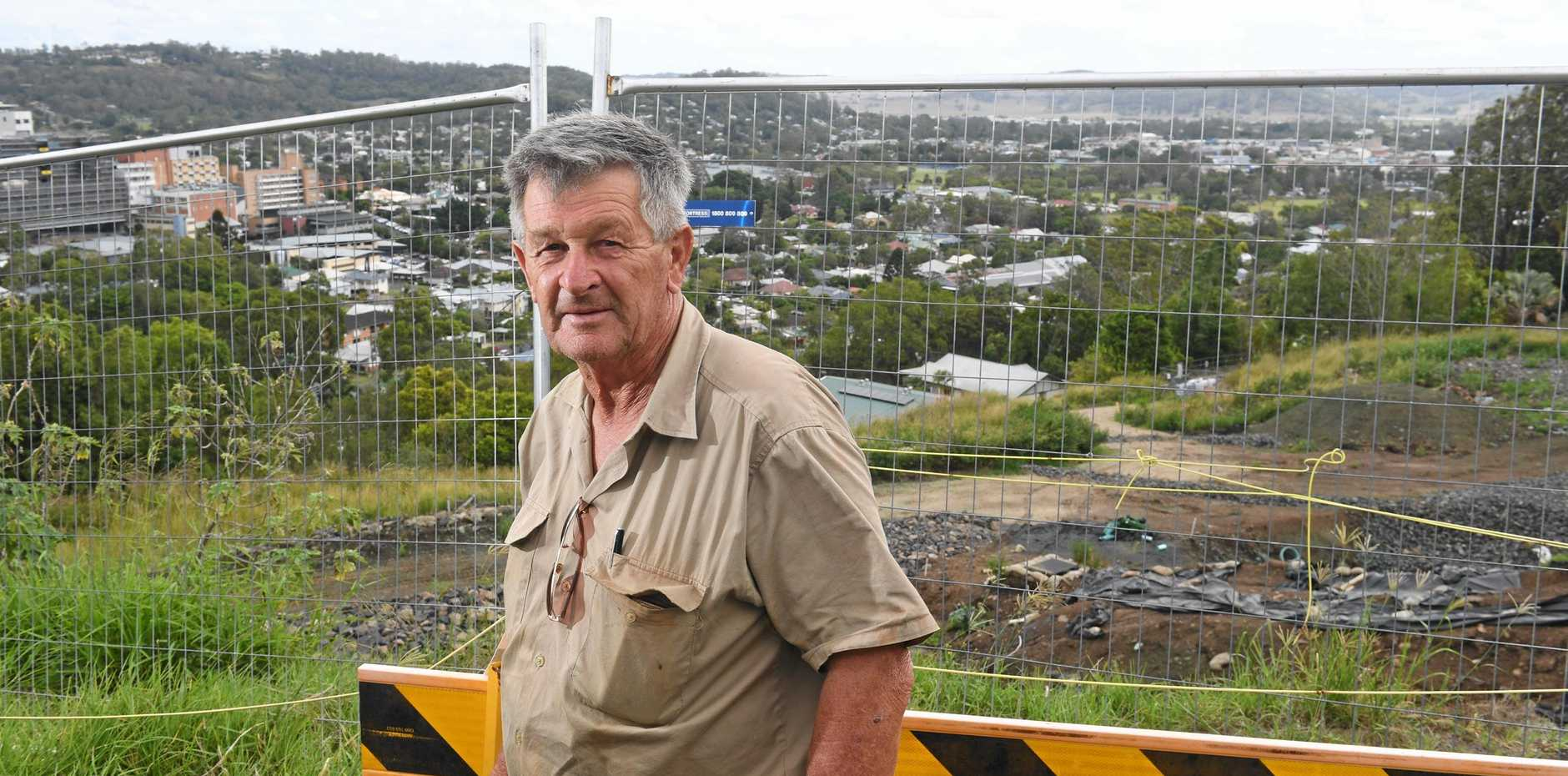 Landowner Ken Allport is expected to speak in the public access session at the April 9 Council meeting regarding the landslip and reformation of the embankment along Beardow St, Lismore Heights, where historic industrial waste including coke and slag like materials, as well as bonded asbestos, was encountered.