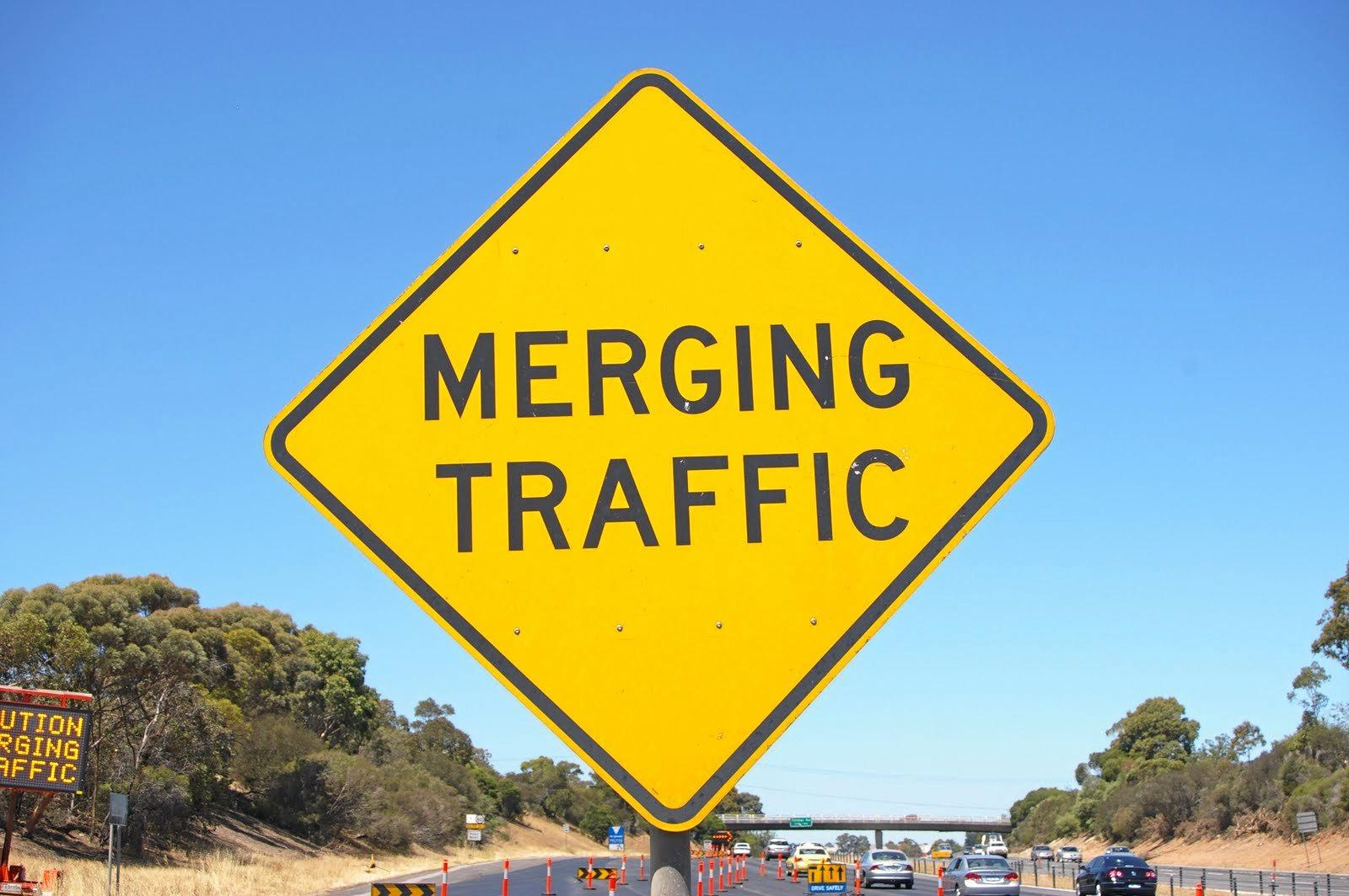 On roads where there are lanes marked, the driver changing lanes must give way to traffic. If there are no markings when the lanes merge it's a case of giving way to the vehicle in front.