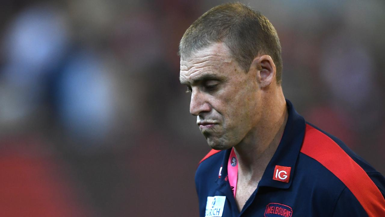 Melbourne coach Simon Goodwin has plenty of work to do to get the Demons back on the boiler. Picture: AAP