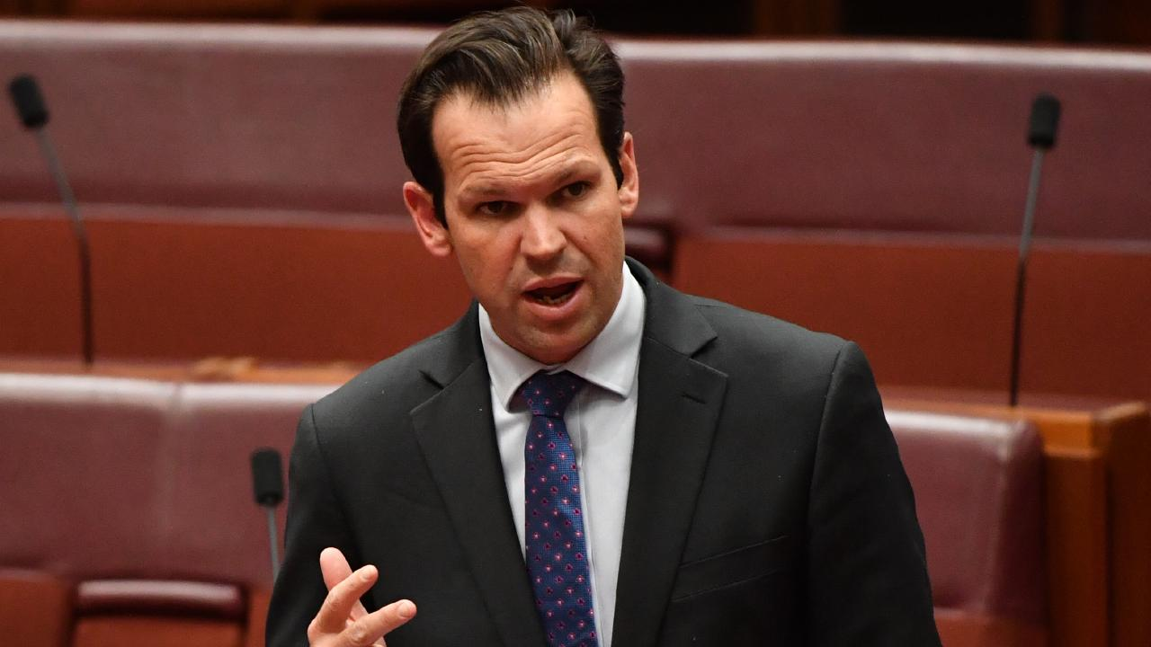 Resources Minister Matt Canavan during Question Time this week. Picture: Mick Tsikas/AAP