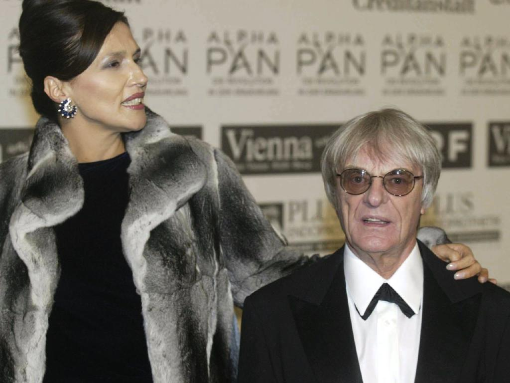 One of the costliest divorces in the world: Formula One motor racing chief executive Bernie Ecclestone with wife Slavica. Picture: Supplied