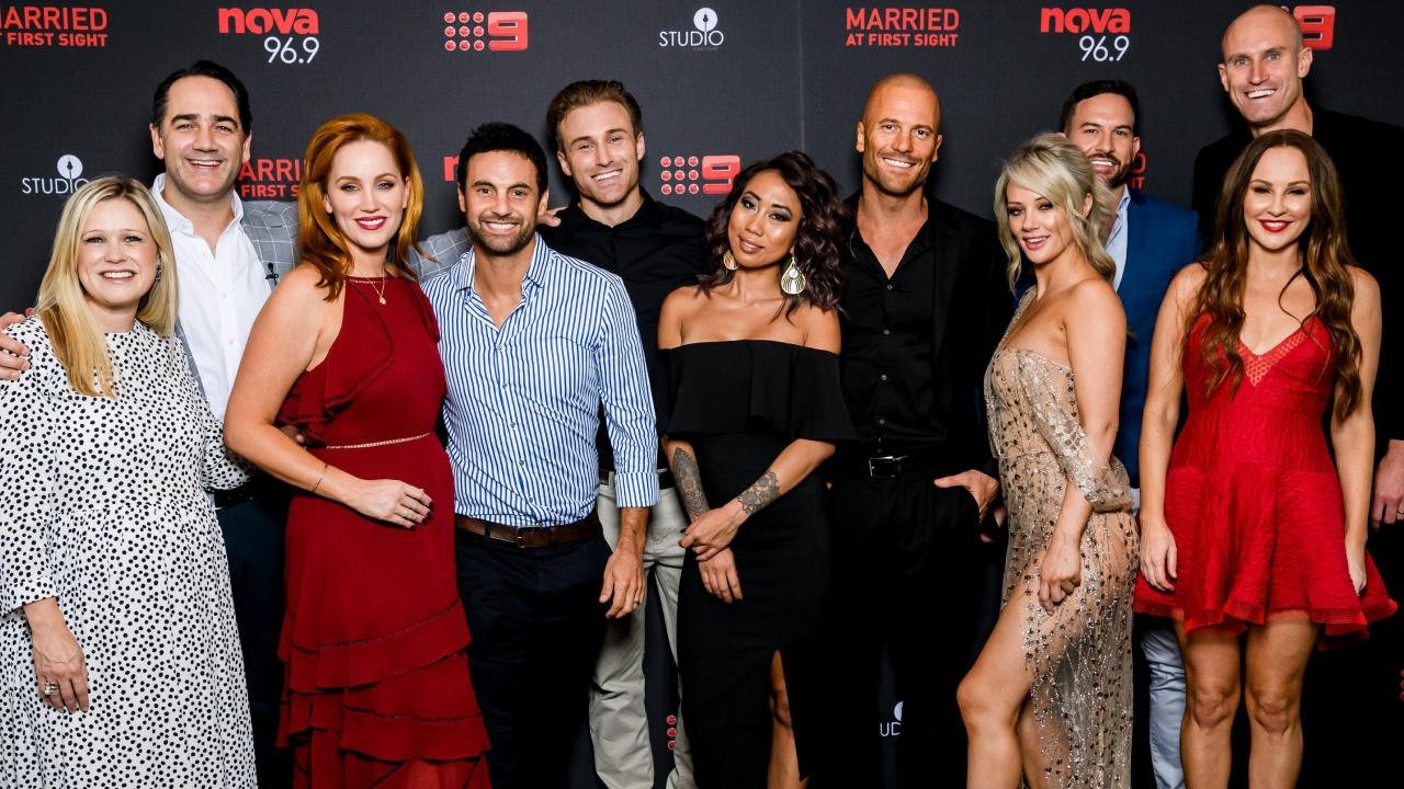 Fitzy & Wippa's Married At First Sight Dinner Party at Studio in Sydney Tower.