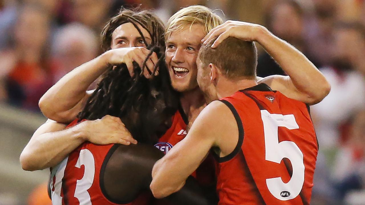 The Dons spread the love in their first win of the season. Picture: Getty Images