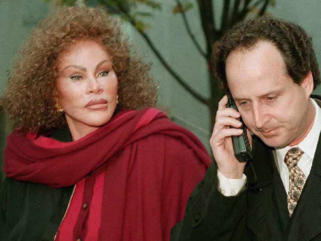 Jocelyne Wildenstein, wife of art dealer Alec Wildenstein outside court with her lawyer Bernard Clair Mar . Picture: Supplied
