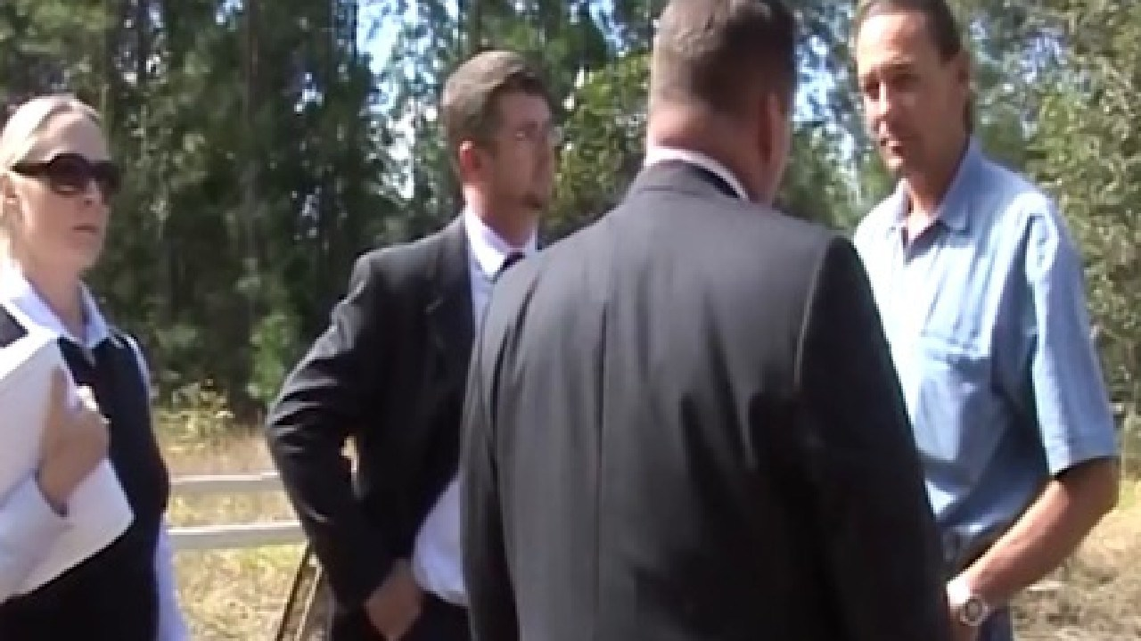 Detectives inform Cowan they wish to speak to him regarding the murder of Daniel Morcombe. Picture: Queensland Police Service