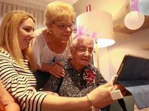 Techy twins toast 100 years from opposite sides of the world
