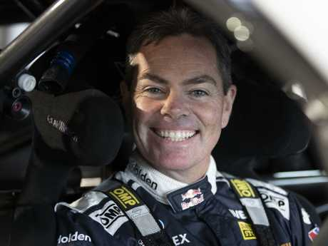 Craig Lowndes back in his happy place — behind the wheel of a V8 Supercar.