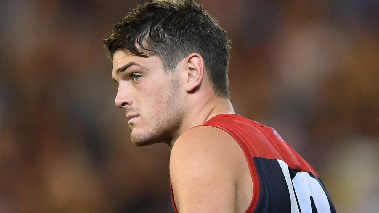 Angus Brayshaw cuts a forlorn figure post match.