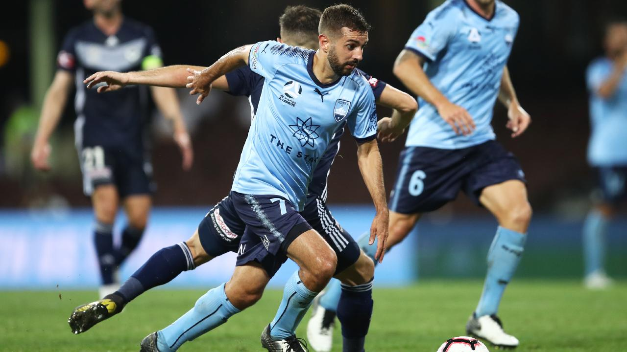 Michael Zullo on the ball for Sydney FC. Picture: AAP