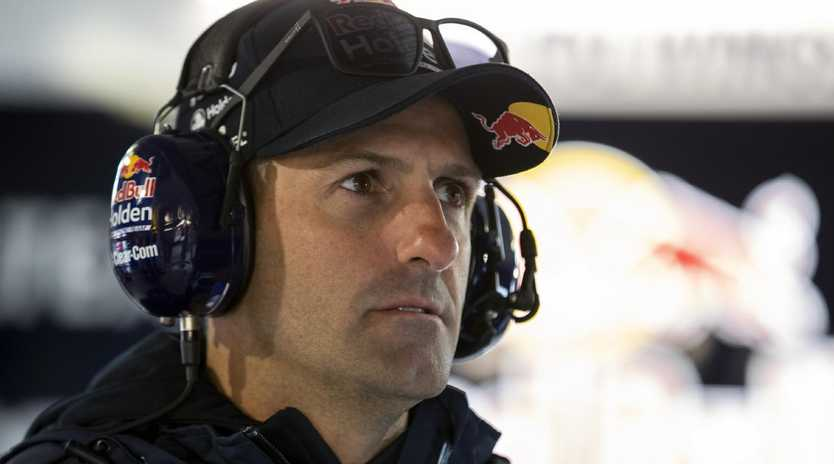 Jamie Whincup had a tough day at Symmons Plains.