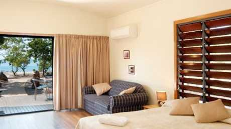 Cape Gloucester Beach Resort boasts self-contained cabins with island views.