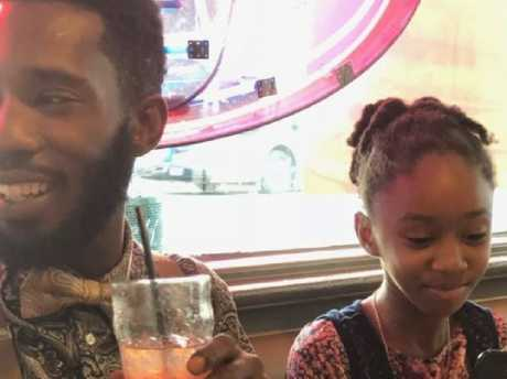 Dharquintium Brown and his daughter, Summerbell Brown. Picture: Supplied