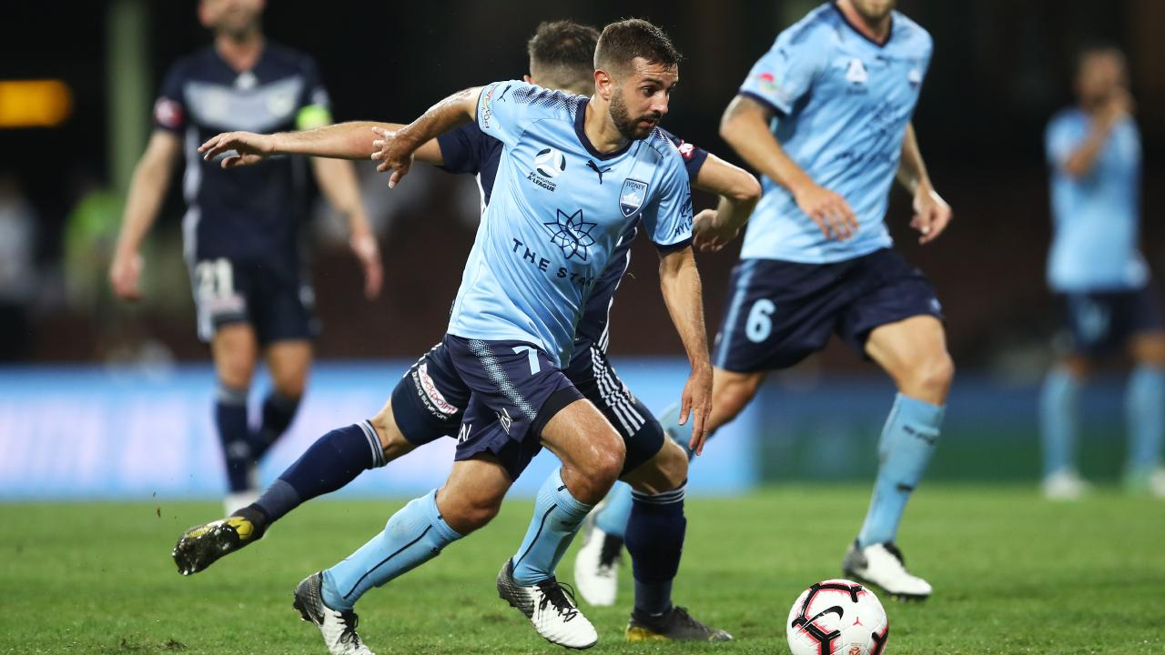 Nothing separates Sydney FC and Melbourne Victory. Picture: AAP