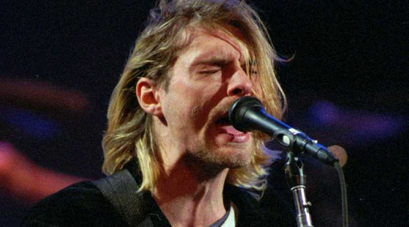 Kurt Cobain was 27 when he died April 5, 1994, in his home in a wealthy neighbourhood near Lake Washington. Picture: Robert Sorbo/The Seattle Times via AP